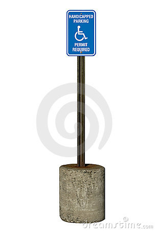 Free Handicapped Parking Sign Royalty Free Stock Images - 3328509