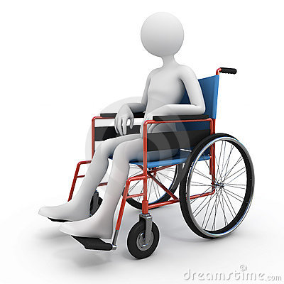 Handicapped Person In Wheelchair Royalty Free Stock Images - Image ...