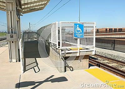 Handicapped Ramp at Light Rail Station