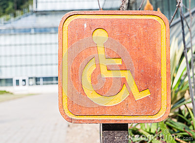 Handicapped Symbol Stock Photo - Image: 28585610