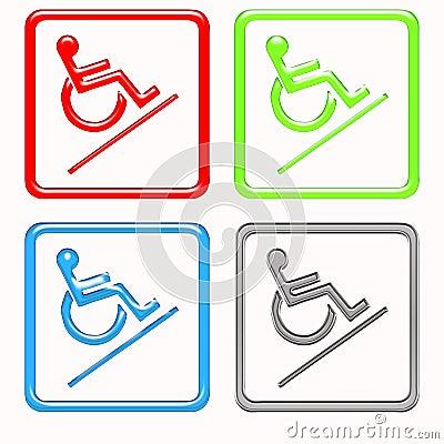 Handicapped symbols