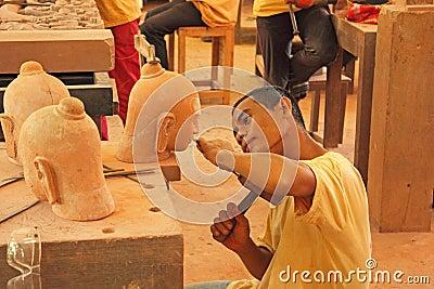 Handicraft in Cambodia Editorial Photo