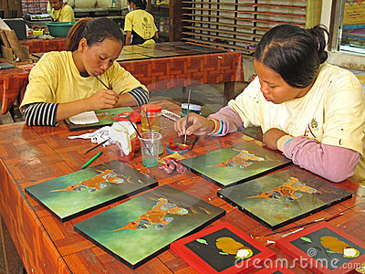 Handicraft in Cambodia Editorial Stock Photo