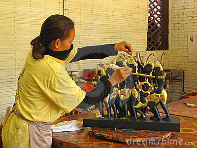Handicraft in Cambodia Editorial Photography