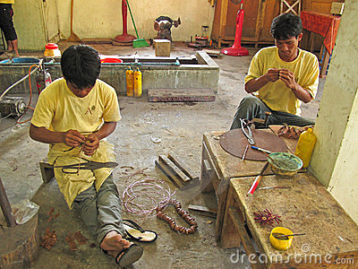 Handicraft in Cambodia Editorial Photo
