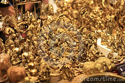 Handicraft Gold Idols of Hindu Gods for Sale