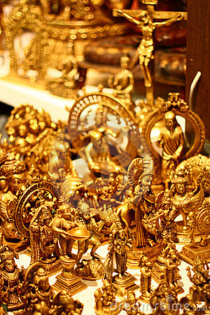 Handicraft Gold Idols from India