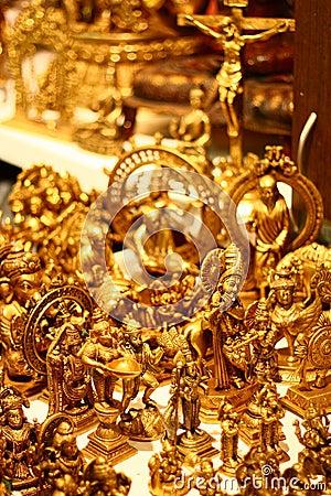 Handicraft Gold Idols from India
