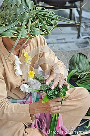Handicraft man Editorial Photography