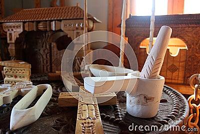 Handicraft of wooden in Maramures