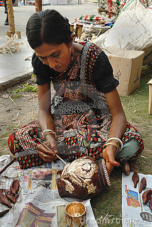 Handicrafts in India Editorial Stock Image