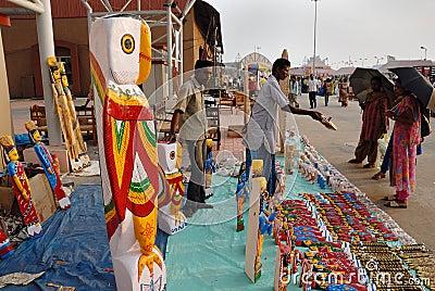 Handicrafts in India Editorial Stock Photo