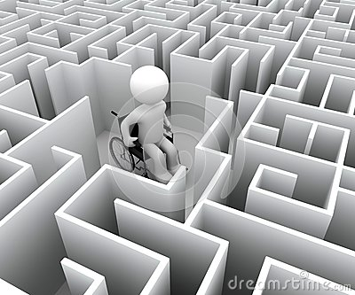 Handikapp och labyrint