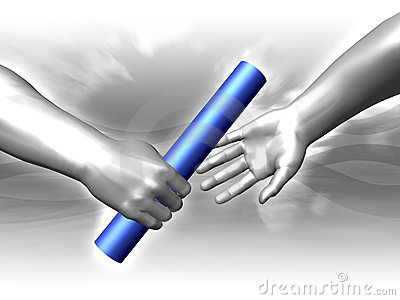Handing The Baton Royalty Free Stock Image Image 5353276