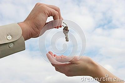 Handing keys over