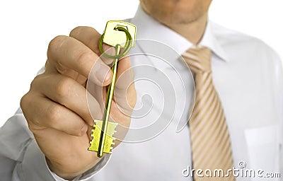 Handing over the key