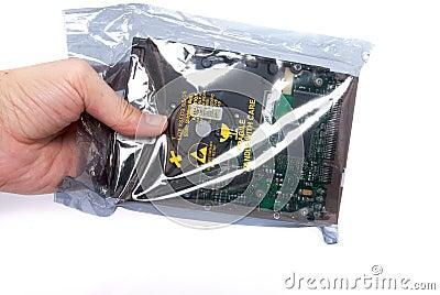 Handle harddisk isolated on white