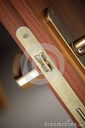 Handle modern door closeup