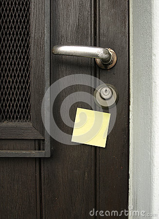Handle and post-it