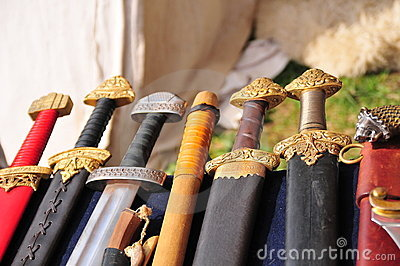 Handles of swords