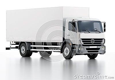 Handlowa dostawy, ładunku ciężarówka/