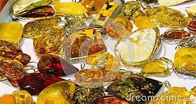 Handmade amber pendants