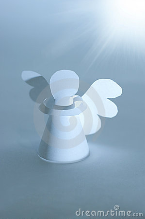 Handmade angel cut out from  paper