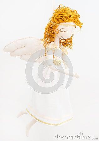 Free Handmade Angel Doll. Stock Images - 54513834