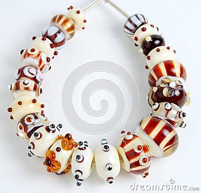 Handmade beads, lampwork beads