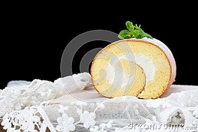 Handmade cake roll
