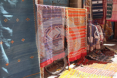 Handmade carpets, Morocco Editorial Photo