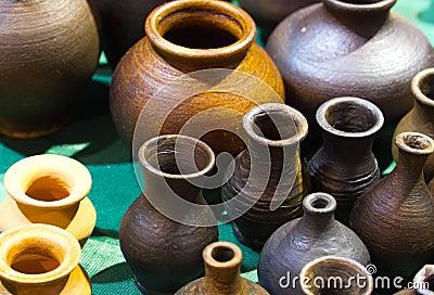 Handmade ceramics jugs
