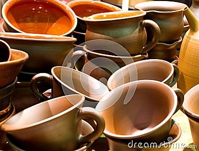 Handmade ceramics pots