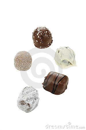 Handmade chocolates.