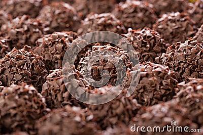 Handmade chocolates ball
