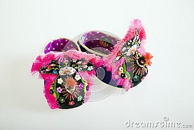 Handmade cloth shoes