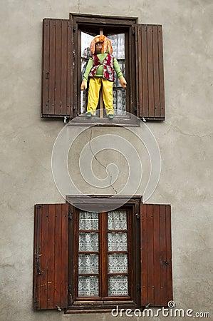 Handmade coarse dolls , CAMPAN, FRANCE Editorial Stock Image