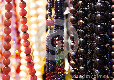 Handmade colourful beads