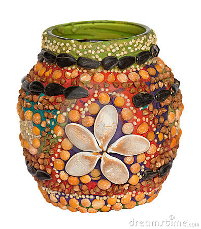 Handmade decoration of vase