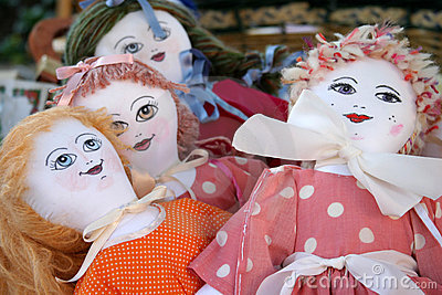 Handmade dolls Stock Photo