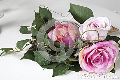 Handmade fake pink rose