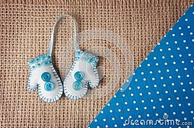 Handmade felt mitten