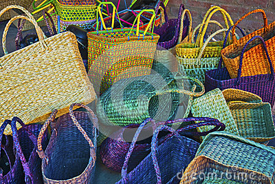 Handmade fibre baskets