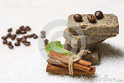 Handmade flavored soap bars