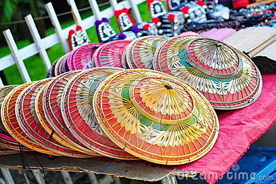 Handmade hats in Thailand