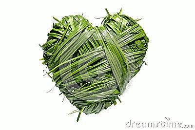 Handmade heart from grass