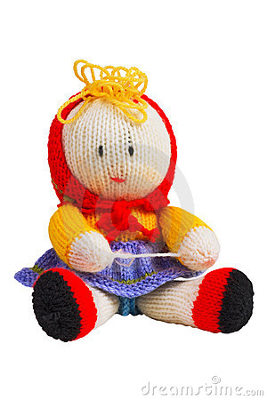 Handmade knit toy, doll