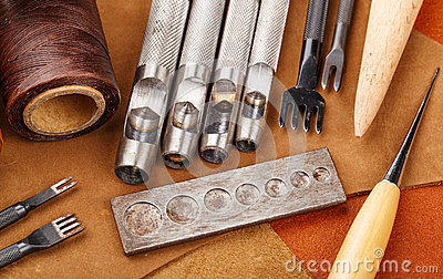 Handmade leather craft equipment