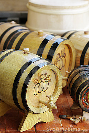 Handmade liquor barrels