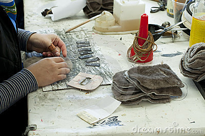Handmade Manufacture Of Footwear Stock Image - Image: 21662191